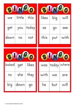 Sight Word Games: Red Level (Color Wheel)