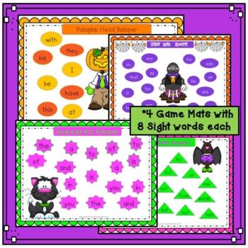 "Sight Word Games - Halloween Spooky ""Bumper"" {EDITABLE}"