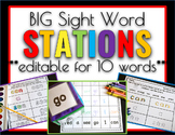 Sight Word Games & Stations 10 Words (at a time) Editable Edition