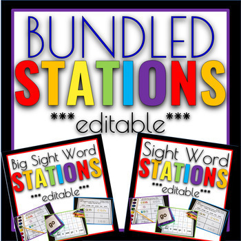 Sight Word Games & Stations Editable BUNDLE