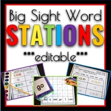 Sight Word Games & Stations BIG WORDS Editable Edition