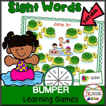 Sight Word Games: Summer Theme Bumper {EDITABLE}