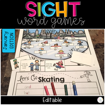 WINTER SIGHT WORD GAMES EDITABLE