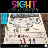 WINTER SIGHT WORD GAMES EDITABLE