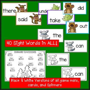 Sight Word Games - Woods BUMPER {EDITABLE}