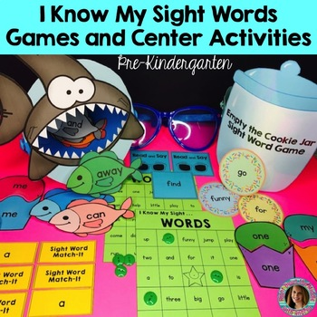 Sight Word Games and Center Activities (Pre-Kindergarten Dolch)