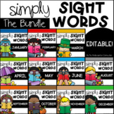 Editable Sight Word Games and Centers BUNDLE