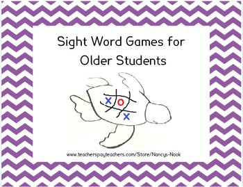 Sight Word Games for Older Students