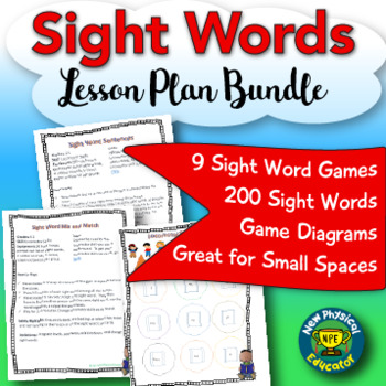 Sight Word Games Lessons Bundle for Physical Education Elementary