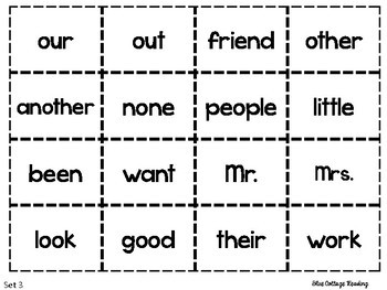 Sight Word Games for School or Home