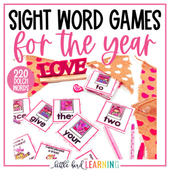 Sight Word Games for the Year! **COMPLETE BUNDLE**
