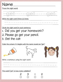 Sight Word Get