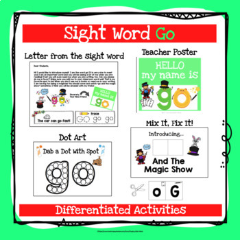 Sight Word Go Activities