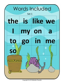 Sight Word Go Fish Set 1