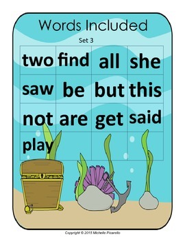 Sight Word Go Fish Set 3
