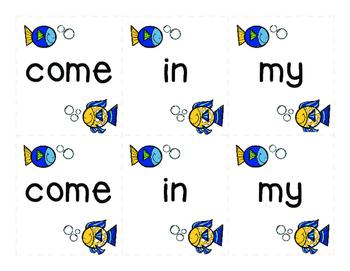 Sight Word Go Fish 1st Grade Set 1