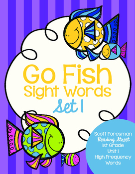 Sight Word Go Fish 1st Grade Set 1