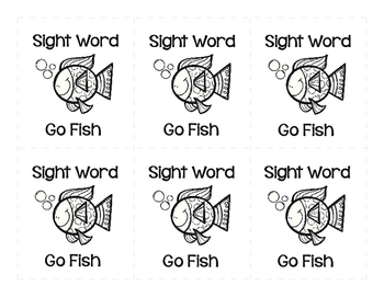 Sight Word Go Fish 1st Grade Set 2