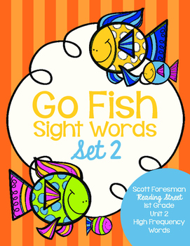 Sight Word Go Fish 1st Grade Set 2