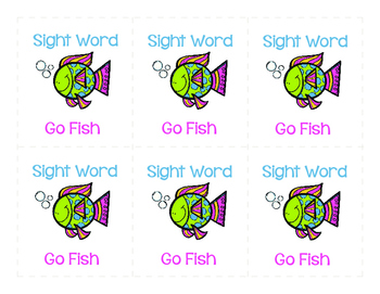 Sight Word Go Fish 1st Grade Set 3