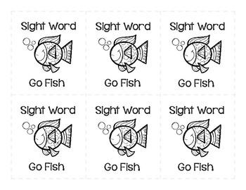 Sight Word Go Fish 1st Grade Set 4