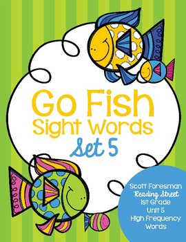 Sight Word Go Fish 1st Grade Set 5