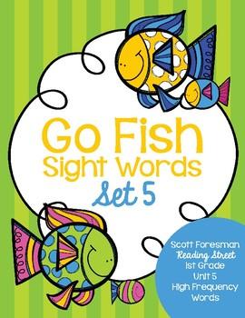 Sight Word Go Fish 1st Grade Set 5