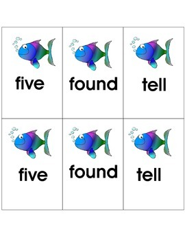 Sight Word Go Fish: 2nd Grade