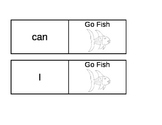 Sight Word Go Fish Cards black & white