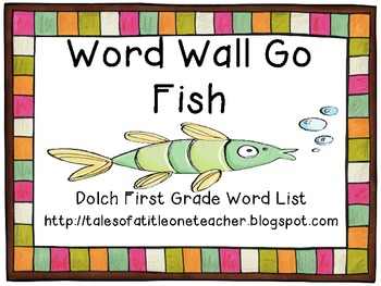 Sight Word Go Fish - Dolch First Grade List