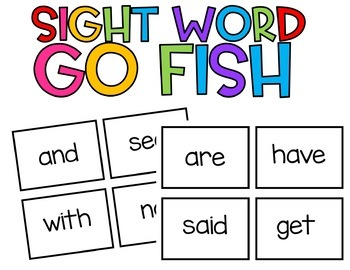 Sight Word Go Fish EDITABLE