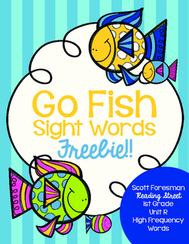 Sight Word Go Fish 1st Grade FREEBIE