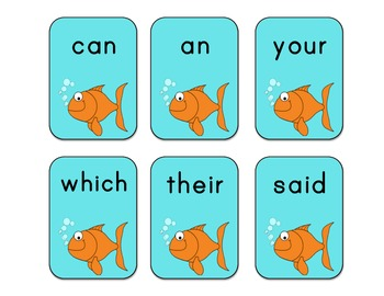 Sight Word Go Fish - First Grade