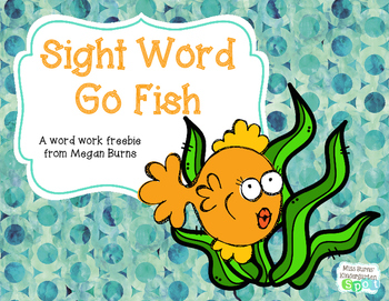 Sight Word Go Fish Freebie
