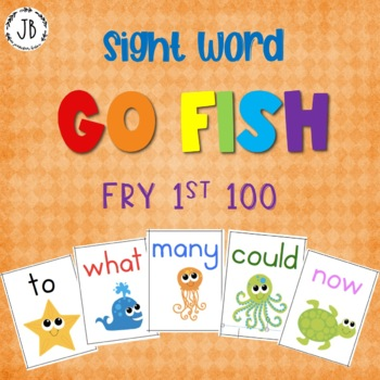 Sight Word Go Fish: Fry Words 1-100