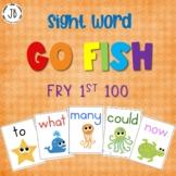 Editable Sight Word Go Fish: Fry Words 1-100