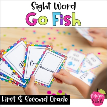 Sight Word Go Fish Game Dolch First and Second Grade Words