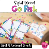 Sight Word Go Fish Game First and Second Grade Words