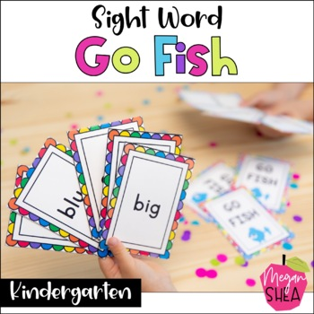 Sight Word Go Fish Game Dolch Pre-Primer and Primer Words