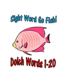 Sight Word Go Fish Game: Dolch Words 1-20