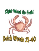 Sight Word Go Fish Game: Dolch Words 21-40