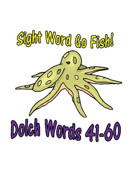 Sight Word Go Fish Game: Dolch Words 41-60