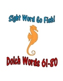 Sight Word Go Fish Game: Dolch Words 61-80