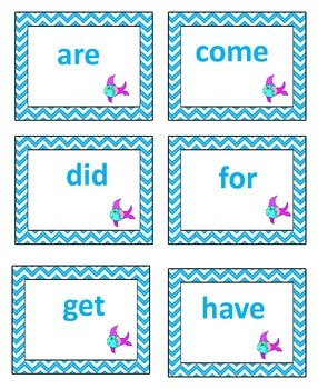 Sight Word Go Fish Game for Early Readers using Jan Richardson's Lists C-E
