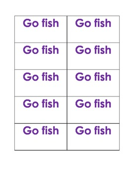 Sight Word Go Fish Lesson 24