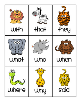 Sight Word Go Fish SAMPLE
