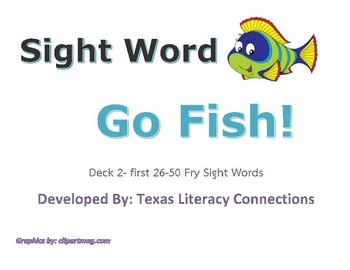 Sight Word Go Fish Set 2