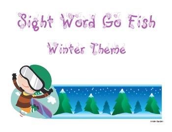 Sight Word Go Fish - Winter