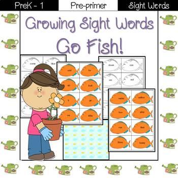 Sight Word Go Fish! (pre-primer)