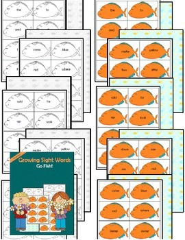 Sight Word Go Fish! (pre-primer/primer BUNDLE)